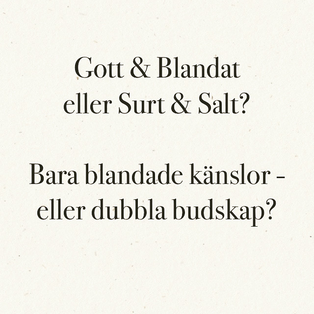 En påse Gott & Blandat – eller Surt & Salt?